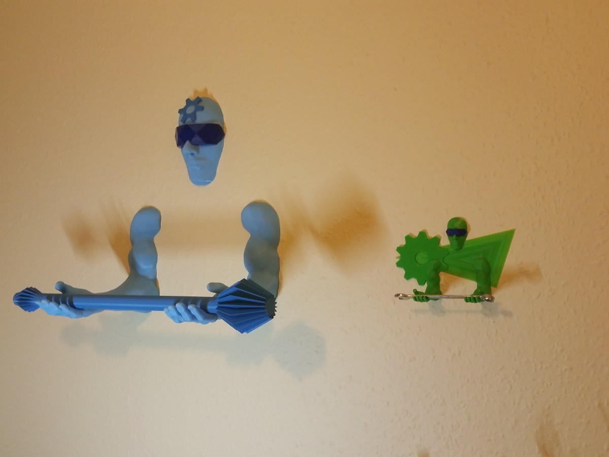 3D Printing Guardian Spool Holder and Tool Holder 4-3.jpg Télécharger fichier STL gratuit Outil mural / porte-stylo 3D Printing Guardian • Objet pour impression 3D, MaxFunkner