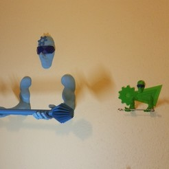 Download free 3D printer files Wall-mounted Tool / Pen holder 3D Printing Guardian, MaxFunkner