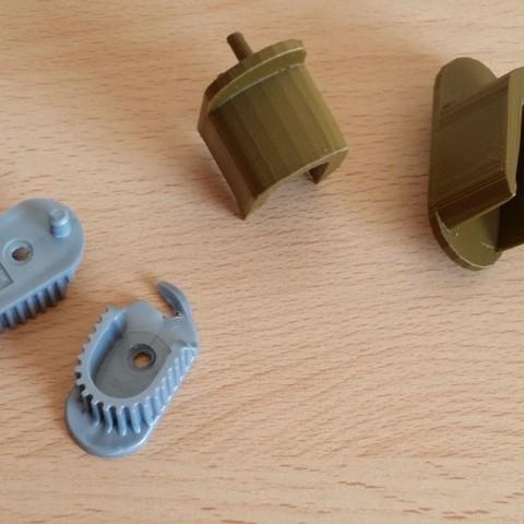 Wardrobe Rail End Support Bracket Before After.jpg Download free STL file Wardrobe Rail Bracket • 3D printable object, MaxFunkner