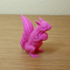 Download free 3D printing templates Squizzle! A No supports Squirrel Sculpt, MaxFunkner