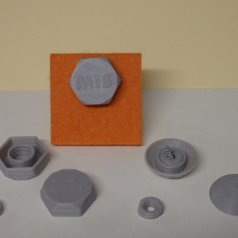 Download free STL file  Bolt and Rivet decorative / Boulon and Rivet décoratif • 3D printing design, Boxplyer