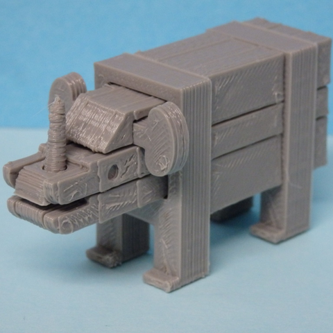 Free 3D printer model Rhino puzzle, Boxplyer
