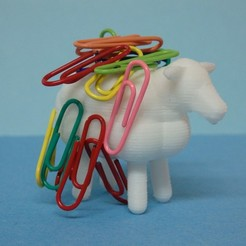 Download free 3D printing designs Paper clip sheep, Boxplyer