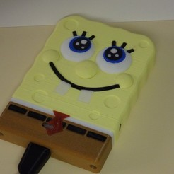 Download free STL files Sponge BOB harddrive case Sata / BOB l'éponge Boitier disque Dur, Boxplyer
