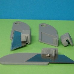 Download free 3D printer files Trapezoid cutter blade holder / Support de lame trapeze, Boxplyer