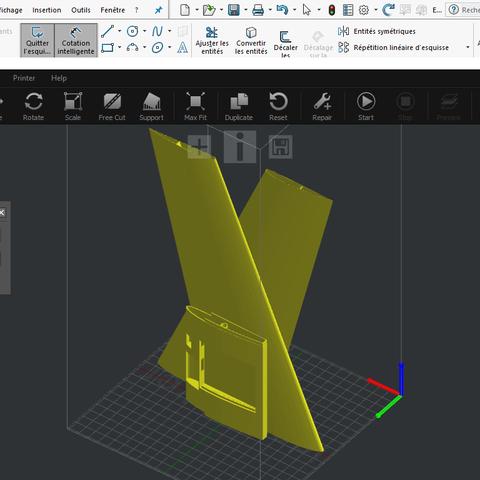 Sans titre.png Download STL file Flying Wings RC • 3D print template, Nizarnizz