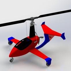 Gyro 2.JPG Download STL file Gyrocopter RC • 3D printer template, Nizarnizz
