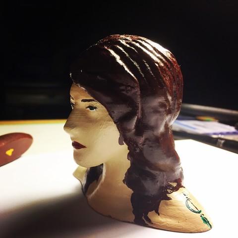 Download OBJ file Female Face • 3D print design, Aliyuanh