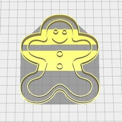 gingerman.jpg Télécharger fichier STL Cortador de galletas Gingerman • Objet pour impression 3D, Avallejo