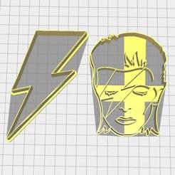 Descargar archivos STL Set 2 cortadores de Galletas David Bowie, Avallejo