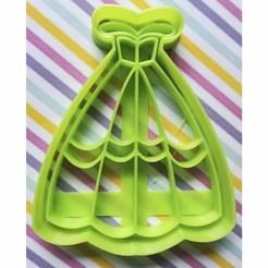 Descargar archivo 3D Cortador de galletas Vestido Princesa, Avallejo