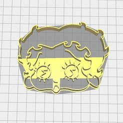 Download 3D printing files Betty Boop biscuit cutter, Avallejo