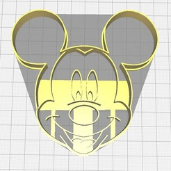 Download 3D printer files Mickey Mouse cookie cutter, Avallejo