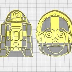 Descargar modelos 3D para imprimir Cortador de galletas Star Wars, R2D2, C3PO, Avallejo