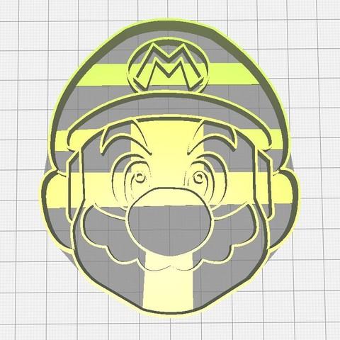 3D print files Super Mario Cutter, Avallejo