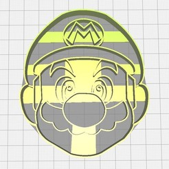 3D print files Super Mario Cutter, Avallejo