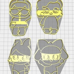 Download 3D print files LoL Cookie Cutter, Avallejo