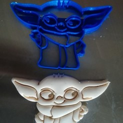Download 3D printing models Baby Yoda Cookie Cutter, Avallejo