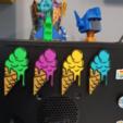 Download free 3D printing templates Ice Cream Fridge Magnet, WE_3D