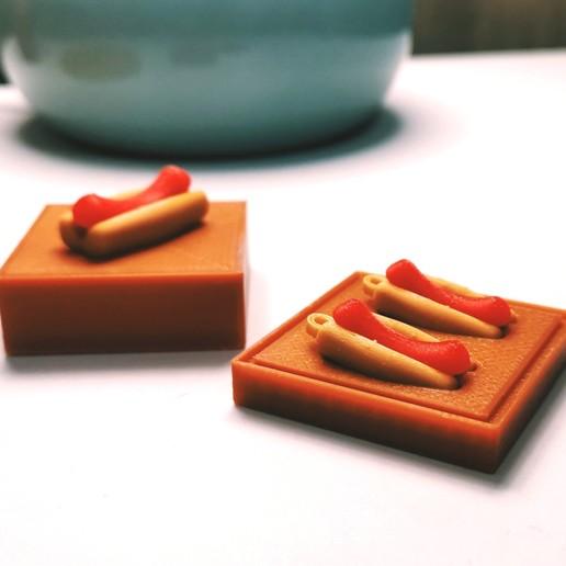 Download free 3D model Hot Dog Earings, WE_3D