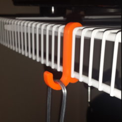 Download free STL file Snap in hook for ClosetMaid wire shelving, jvanier