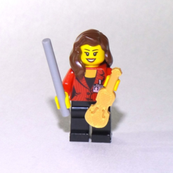 Free Lego violin 3D model, jvanier
