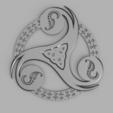 Download STL file Triskel breton • 3D printer object, francknos
