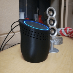 Free STL file Amazon Echo Dot Dock, PentlandDesigns