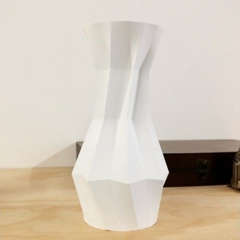 Free 3D printer designs Origami Vase, PentlandDesigns