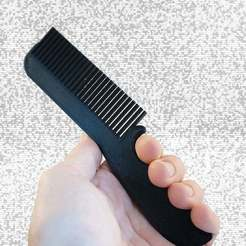 Download free 3D print files 3D Printed Grip Comb, delukart