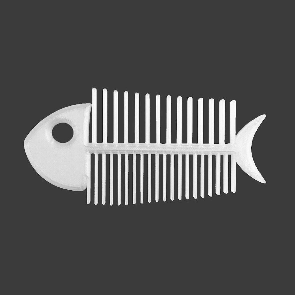 fish bone comb-white copy.jpg Download STL file Fish Bone • Template to 3D print, delukart