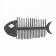 Fish bone comb.jpg Download STL file Fish Bone • Template to 3D print, delukart