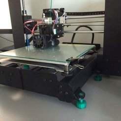 055.JPG Télécharger fichier STL gratuit (mise à jour)duplicateur wanhao i3 pieds réglables • Plan à imprimer en 3D, delukart