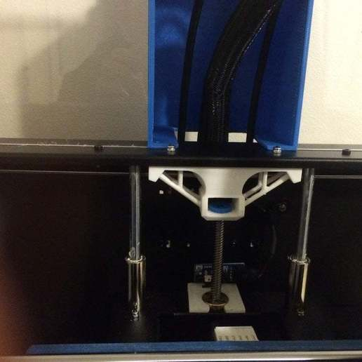Download free STL file wanhao duplicator 4s z-axis-brace and bushing • 3D printer model, delukart