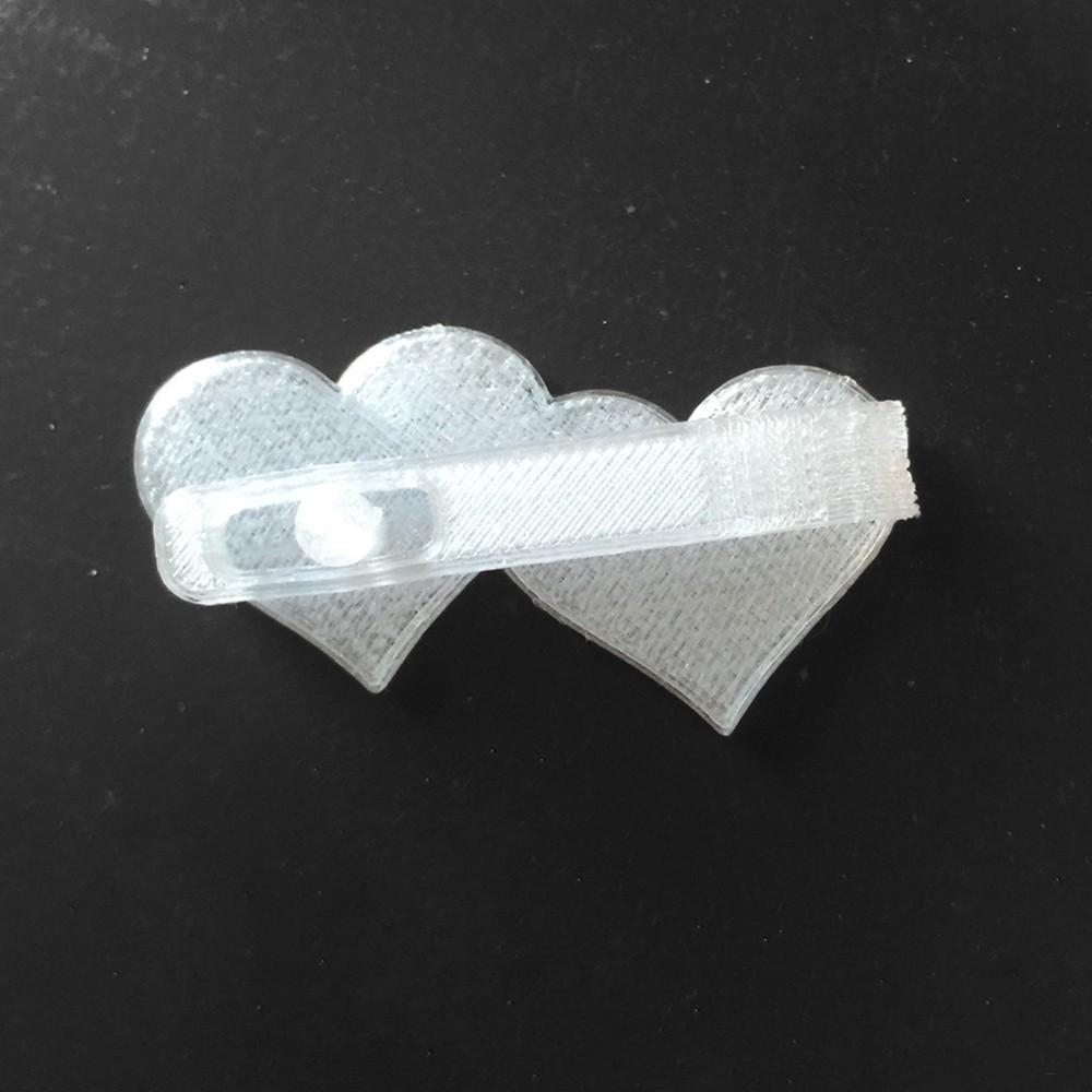 IMG_6354.jpg Download free STL file Two Hearts Hair Clip • 3D print design, delukart