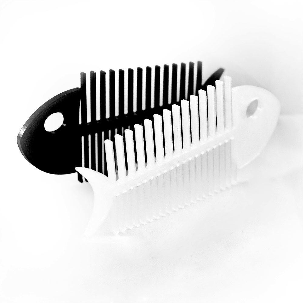 fish bone comb-2.jpg Download STL file Fish Bone • Template to 3D print, delukart