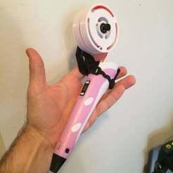 40652571_261100898078071_1334295349291909120_n.jpg Télécharger fichier STL gratuit 3D pen2 mini master spool and mount • Plan pour impression 3D, delukart