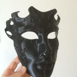 Download free STL file Venetian mask • 3D printer design, delukart