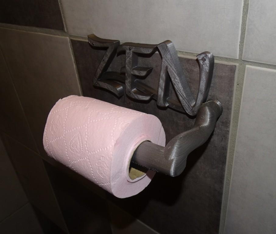 Dévidoir PT ZEN_2.JPG Download free STL file Dévidoir papier toilettes_Toilet paper dispenser • 3D printing template, LaWouattebete