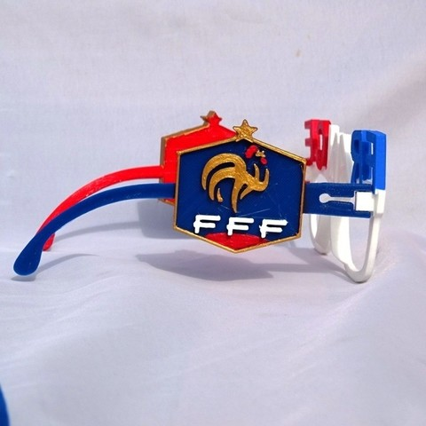 Logo V2.JPG Download free STL file French Team Glasses • 3D print object, LaWouattebete
