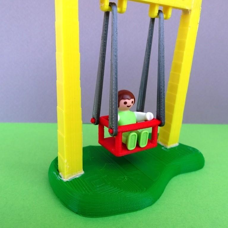 DSC06579.JPG Télécharger fichier STL gratuit Balançoire et Toboggan Playmobil • Plan imprimable en 3D, LaWouattebete