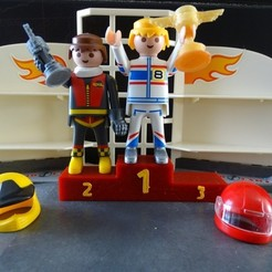 Free 3D printer designs Playmobil Podium, LaWouattebete