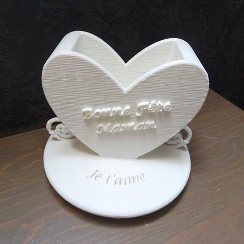 Vase_2.JPG Download free STL file Mother's Day Vase • 3D printer design, LaWouattebete