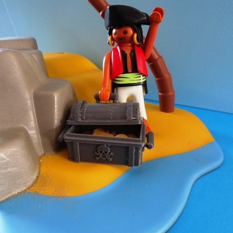 DSC06532.JPG Télécharger fichier STL gratuit Coffre Pirates Playmobil • Design imprimable en 3D, LaWouattebete