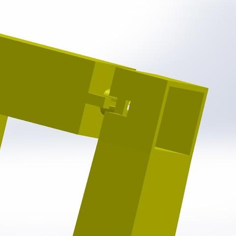 Zoom sur assemblage barre.JPG Télécharger fichier STL gratuit Balançoire et Toboggan Playmobil • Plan imprimable en 3D, LaWouattebete