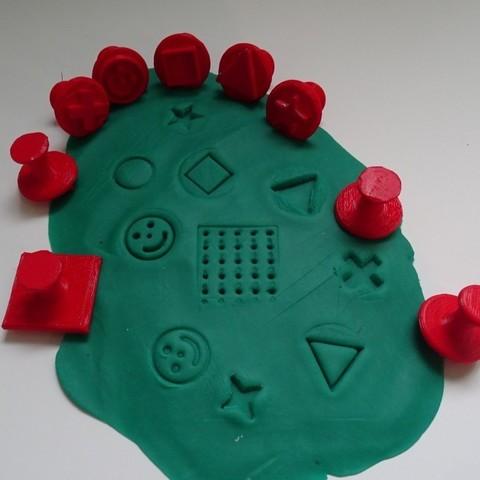 Télécharger fichier imprimante 3D gratuit Tampons pour pâte à modeler _ Plasticine Stamp, LaWouattebete