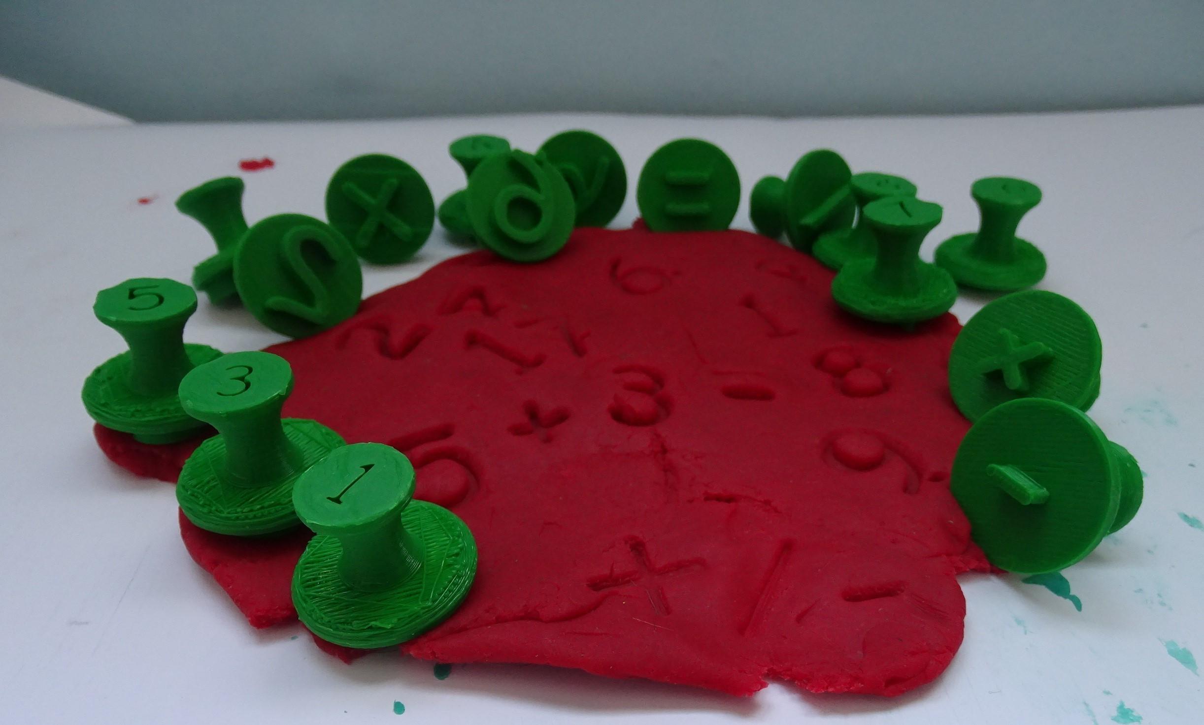 Tamons chiffres 1 _.jpg Download free STL file Stamps stamps number _ Number plasticine stamps • 3D printer model, LaWouattebete