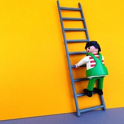 DSC06591.JPG Download free STL file Playmobil Ladder • 3D printing object, LaWouattebete