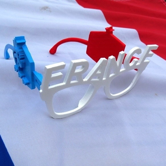 Lunettes Equipe de France.JPG Download free STL file French Team Glasses • 3D print object, LaWouattebete