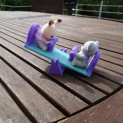 DSC09140.JPG Download free STL file Game Tilt for Sylvanian Playmobil _ Seesaw • 3D printing design, LaWouattebete
